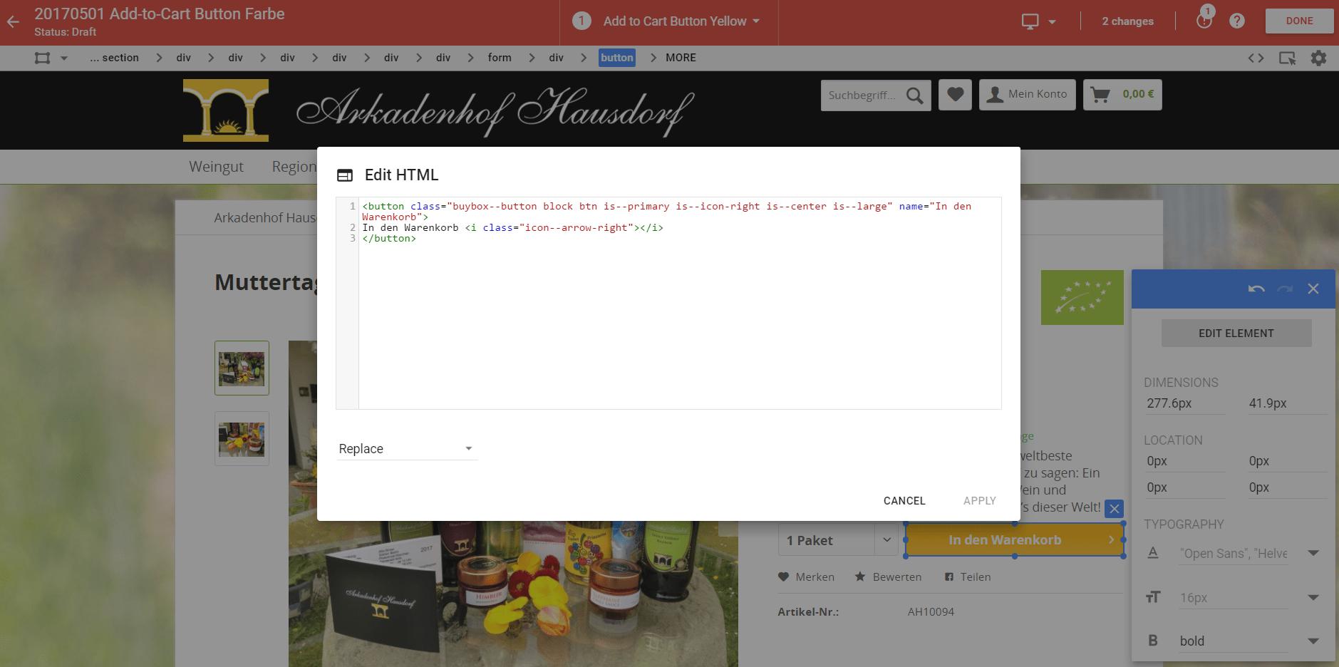 Google Optimize Editor