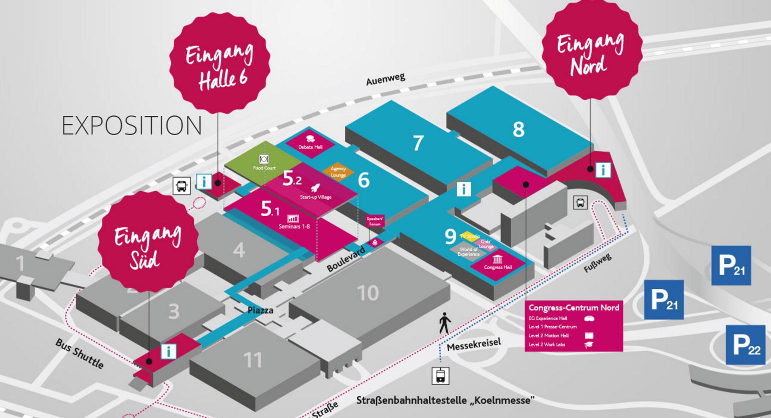 DMEXCO Hallenplan 2017