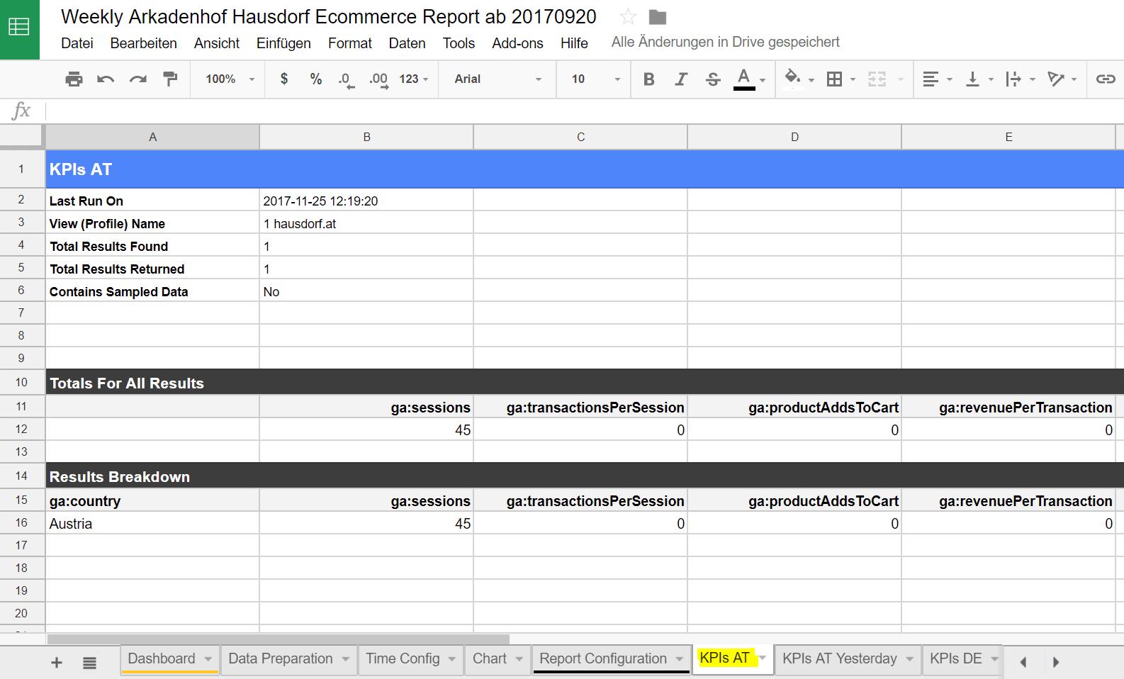Google Analytics Spreadsheet Plugin Step 4