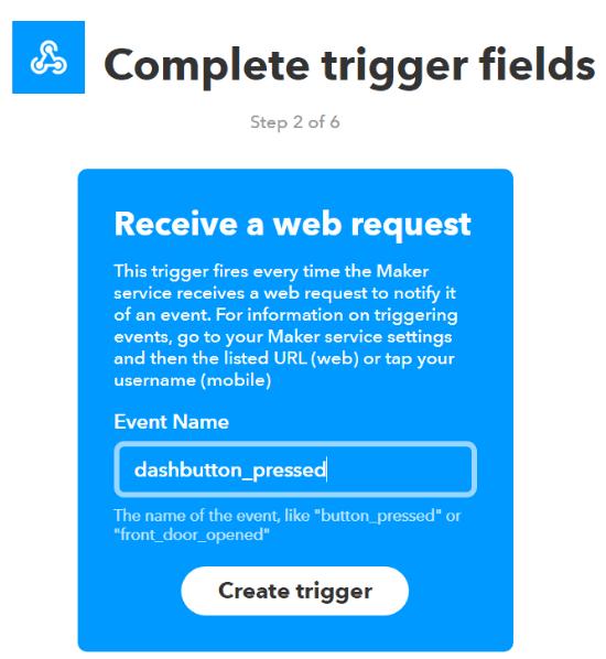 ifttt webhooks create trigger