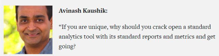Avinash Kaushik Zitat